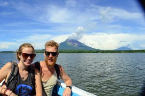 On the ferry to Ometepe