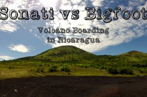 Volcano boarding with Sonati
