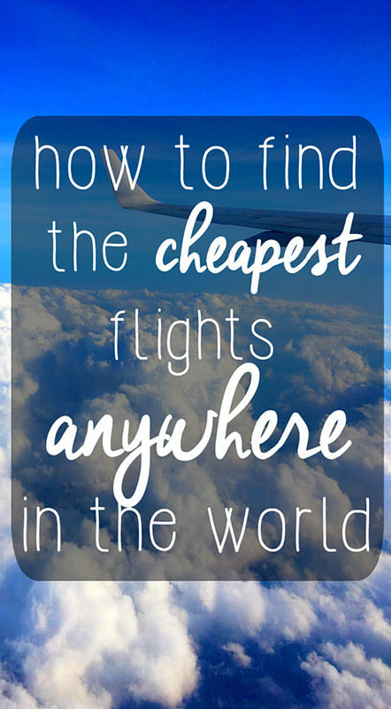 Find the Cheapest Flights to Anywhere in the World