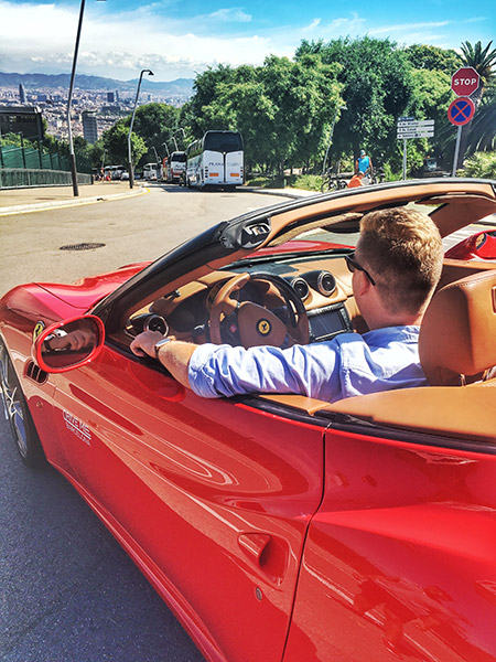 driving a ferrari in barcelona